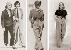 1930s-Trouser-Fans : FASHION HISTORY