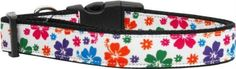 Mirage Pet Products 125-148 LG Multicolor Hawaiian Hibiscus Nylon Dog Collars, Large -- Check this awesome product by going to the link at the image. (This is an affiliate link and I receive a commission for the sales) #MyPet