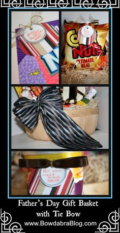 Father's Day Gift Basket with Tie Bow
