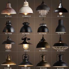 Industrial Style Lighting, Industrial Pendant Lights, Vintage Industrial Furniture, Vintage Lamps, Rustic Industrial, Industrial Lamp Shade, Decor Vintage, Industrial Light Fixtures, Lantern Pendant Lighting
