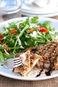 DeLallo Easy Italian Recipes | Crispy Baked Balsamic Asiago Chicken