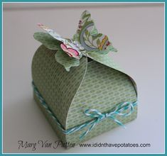 Pretty Little Butterfly Box by Marg Van Patten using CTMH Chantilly paper