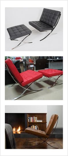 Barcelona Chair designed by Mies van der Rohe for the German Pavilion at the 1929 Barcelona Exposition, Quality replica at perfect price, Buy NOW, bring classic home!