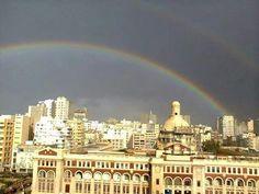 قوس قزح فوق كلية سان مارك الاسكندرية