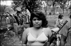 Larry Towell, Usulutan, El Salvador, 1992. Guerillas in camp.