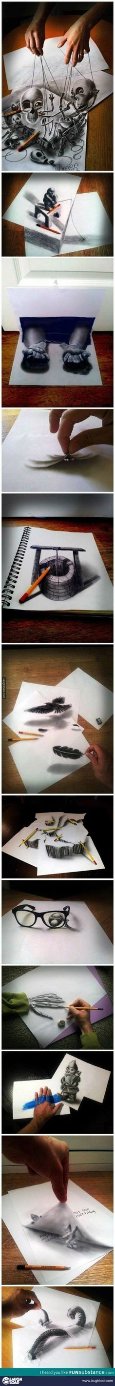 Mind Blowing 3D Drawings