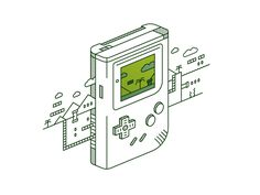 alexlikesdesign: My Game Boy illustration for Vector Dailies made from start to finish on my Twitch stream! By Alex Griendling / Twitch / Twitter / Shop