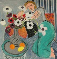 Henri Matisse, Odalisque with Anemonies on ArtStack #henri-matisse #art