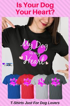 Is your dog your heart Dog lovers love these unique shirts with sayingsand we do too Perfect for dog parents and teens these tshirts make life more comfortable around the. Dog Dad Gifts, Gifts For Dog Owners, Dog Lover Gifts, Dog Christmas Gifts, Holiday Gifts, Presents For Dog Lovers, Dog Mom Shirt, Shirts For Teens, Shirts With Sayings