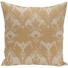 Simply Daisy Geometric Print Decorative Pillow, 16 inch x 16 inch, Yellow