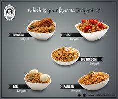 Which is your favourite Biriyani at THALAPPAKATTI RESTAURANT?  www.thalappakatti.com | 044-26194300/26194200  #Food #foodie #Thalappakatti #Chicken #Fish #Egg #Mutton #Restaurant
