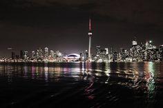 city cityscape Toronto life fine art photography night water Toronto Island fathers day