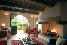 Comfortable living quarters at the Castello Del Nero Hotel & Spa in Italy.