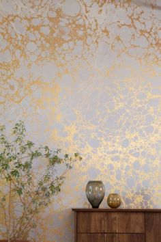 Metallic Marble Wallpaper by Calico Wallpaper in interior design home furnishings
