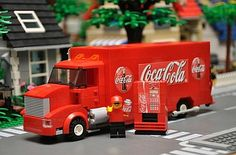 LEGO City Coca Cola Truck by Accurate Brick Innovations  Lots of unique LEGO sets that are simply real life turned into bricks! Brilliant!