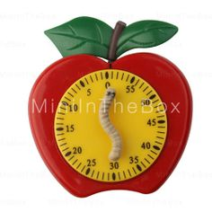 unique kitchen timers Apple Kitchen Decor, Cute Kitchen, Awesome Kitchen, Kitchen Stuff, Office Gadgets, Kitchen Gadgets, Apple Decorations, Kitchen Decorations, Red Clock