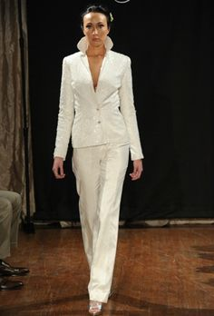 Perfect white pant suits for women wedding carolina herrera bridal pant suit The Most Awaited Collection
