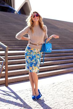 Great colors, even if I couldn't pull off the pencil skirt.