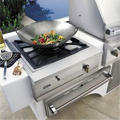 Gas Wok/cooker grill add on for Lowcountry outdoor kitchen at Plugs Appliance Center