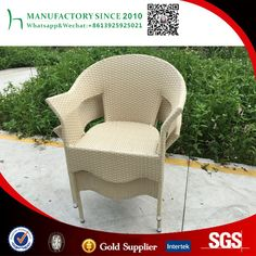 Moda blanco cremoso silla de mimbre al aire libre muebles de China