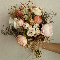 Kuru Çiçekli El Buketi - #elbuketi #elçiçeği #gelincicegi