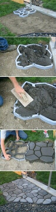 DIY pavers - clever!