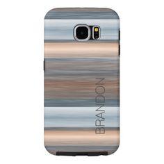 Custom Stylish Modern Watercolor Stripes Pattern Samsung Galaxy S6 Case - modern gifts cyo gift ideas personalize