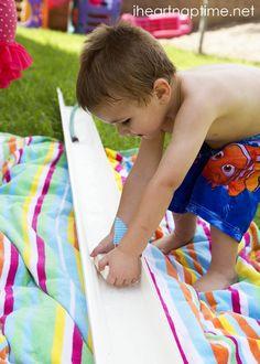 Soap boat races | 10 Summer water activities for kids | #BabyCenterBlog #SummerFun