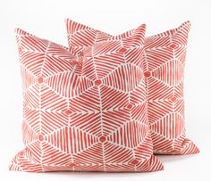 Orange Pillow 18x18 pillow cover Tribal Pillow cushion covers Accent Pillows Toss pillow Couch Pillow Red pillow