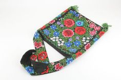 Textile bag with embroidery by KengarooStore on Etsy