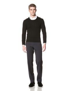 31% OFF Burberry Men's Crew Neck Sweater (Black)