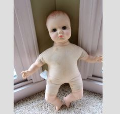 EFFANBEE Sleepy Eyes Rubber Doll 8475 1974 No Clothes by QuinlanQ