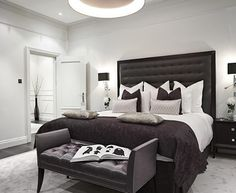 Awesome Black And White Modern Bedroom