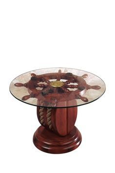 Shop a great selection of NauticalMart 24 Glass Ship Wheel Decorative Table. Find new offer and Similar products for NauticalMart 24 Glass Ship Wheel Decorative Table. Nautical Furniture, Nautical Table, Nautical Home, New Furniture, Living Room Furniture, Nautical Gifts, Table Furniture, Ship Wheel, Funky Home Decor