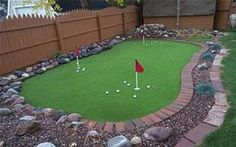 Putting green in the yard...cool!