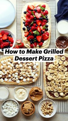 Vegan Sweets, Vegan Desserts, Just Desserts, Summer Grilling Recipes, Barbecue Recipes, Grilling Ideas, Chocolate Pizza, Grilled Desserts, Dessert Pizza