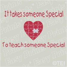 Special Education teachers are so special! Autism puzzle heart. Find 3 Thread Designs on facebook!
