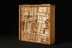 Amir Tomashov urban organism concept model no.10 | from the series of concept models\installations wood model in a wood drawer 30cm x 45cm x 12cm Urban Concept, Urban Fabric, Wood Drawers, Trellis, Models, Home Decor, Templates, Decoration Home, Room Decor