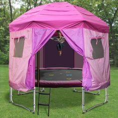 10ft Princess Tr&oline Tent & Trampoline tent bought on amazon | Nicholasu0027s Thomas the Train ...