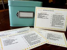 Recipe Card Word Template - easy to use!