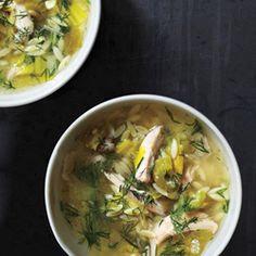 Lemony Chicken and Orzo Soup
