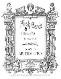 Homeschool Sanity: book binding Using the Ray's Arithmetic series