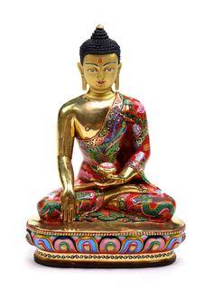 Dharmashop.com - Masterpiece Hand Painted One of a Kind Shakyamuni Buddha Staue