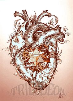 Anatomical Anatomical Heart Print Mystical Heart by TRILODEON, $10.00
