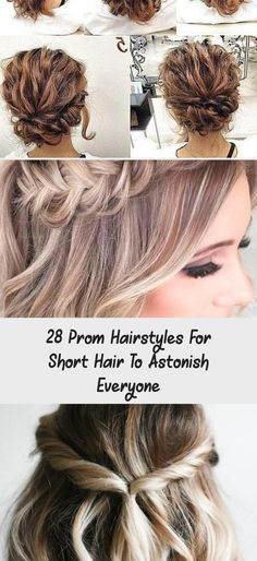 """28 Prom Hairstyles for Short Hair to Astonish Everyone, Short Prom Hairstyles The dress is purchased, now you need to decide on your prom hairstyles.Do not worry about """"What are the fashion trends of the ..., Short Hairstyles #promhairGatsby #promhairMiddlePart #promhairRedhead #promhairSleek #promhairWaves #SimpleElegantHairstyles Prom Hairstyles For Short Hair, Loose Hairstyles, Short Hair Cuts, Wedding Hairstyles, Simple Elegant Hairstyles, Beach Curls, Hollywood Waves, Her Cut, Short Prom"""