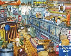 """The Bait Shop"" ~ a 1000 piece jigsaw puzzle by Springbok Puzzles"
