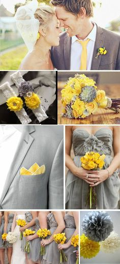 Yellow and gray wedding ideas 2016 Bridesmaid dress:http://marrysoon.storenvy.com/products/15843606 Wedding garter: https://www.etsy.com/listing/259706321/