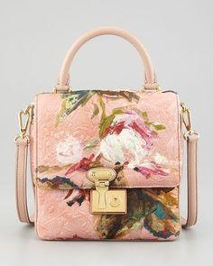 db17a1f682 Dolce   Gabbana Floral-Print Tapestry Flap-Lock Handbag
