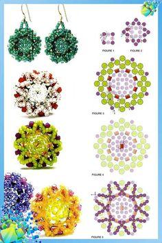 Bead earrings and beads