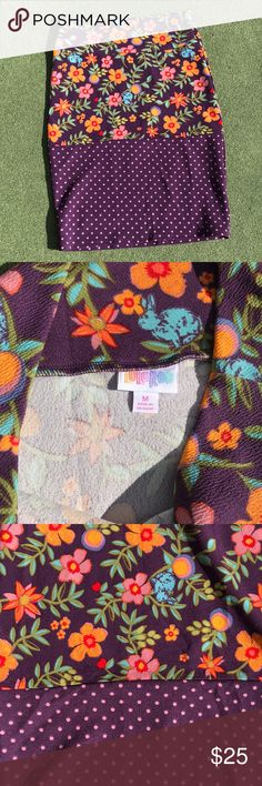 LuLaRoe Cassie Two Tone Size Medium LuLaRoe Cassie Two Tone Size Medium.  Worn once and washed per LuLaRoe instructions.  Trying to destash, have too much LuLaRoe.  This Cassie needs a new home.  Stretchy.  Smoke free home. Is this your Unicorn, Arrow, Elephant, Disney Roses, Paisley, Tiger, Dinosaur or Owl Print? I provide same or next day shipping, depending on time of purchase. Priced to sell. LuLaRoe Skirts